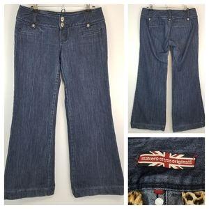 Makers Of True Orginals Dark Wash Wide Leg Jeans